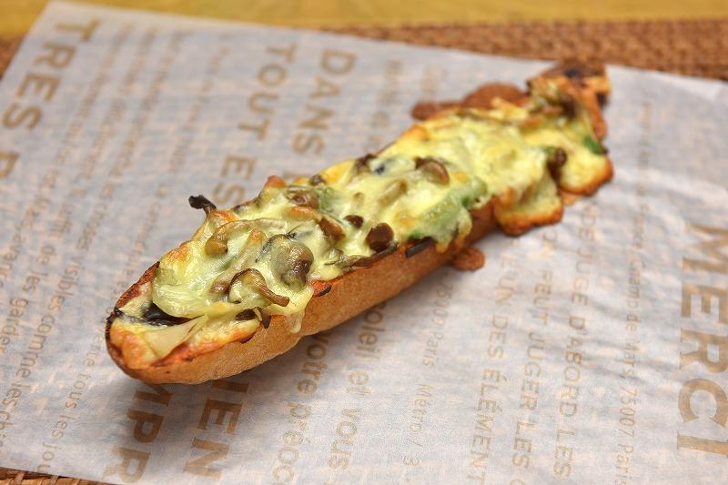 山菜きのこピザ